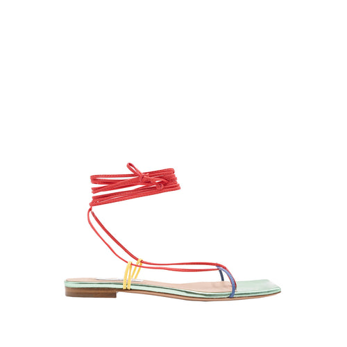 Multicolor eco nappa flat thong