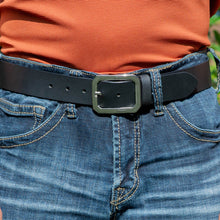 Peacekeeper Belt by Nickel Zero - nickelfreebelts.com, Black genuine leather belt with silver buckle