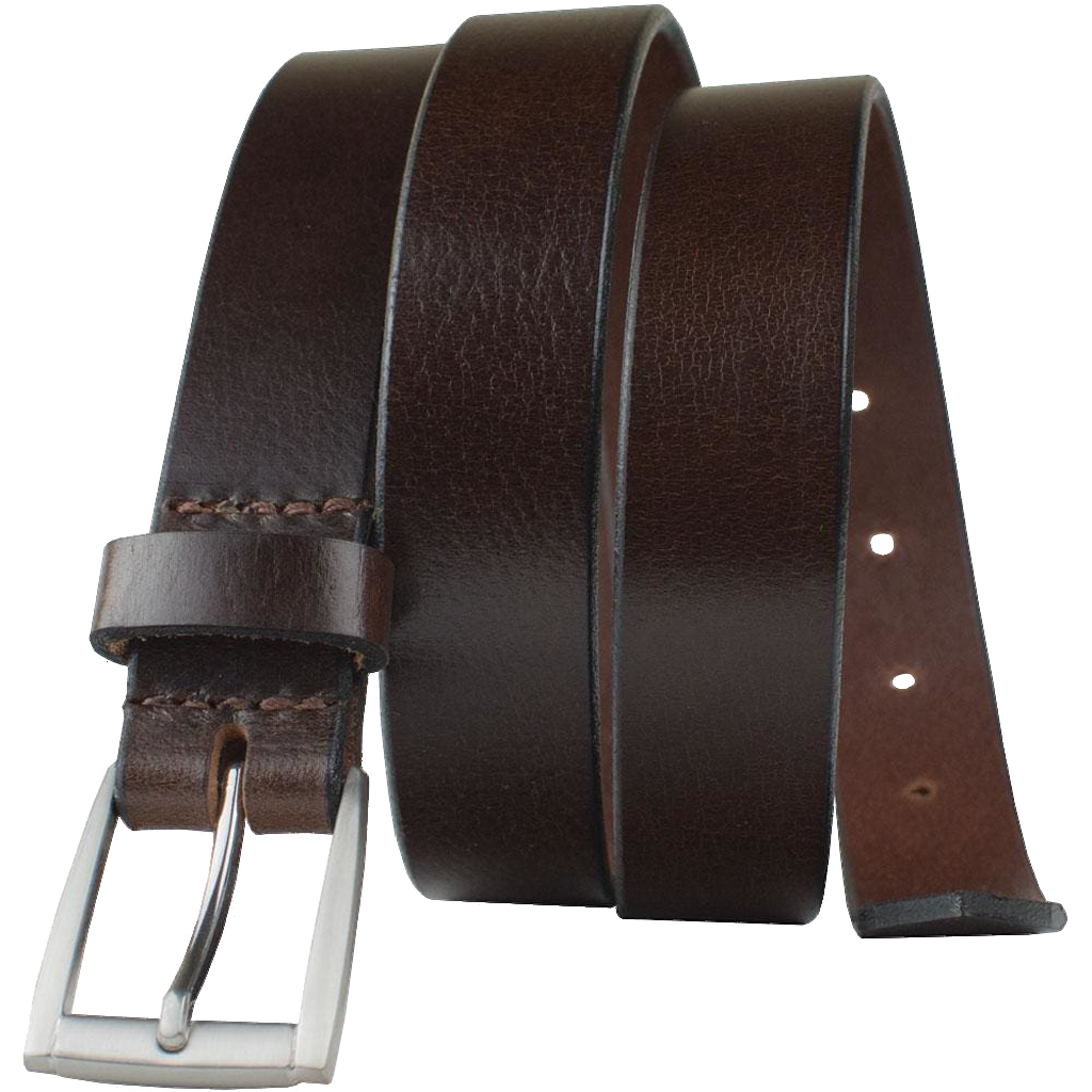Avery - Women's Brown Leather Belt by Nickel Smart®