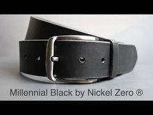 Millennial Belt Set by Nickel Zero - nickelfreebelts.com, Video showing the millennial black belt with a silver buckle