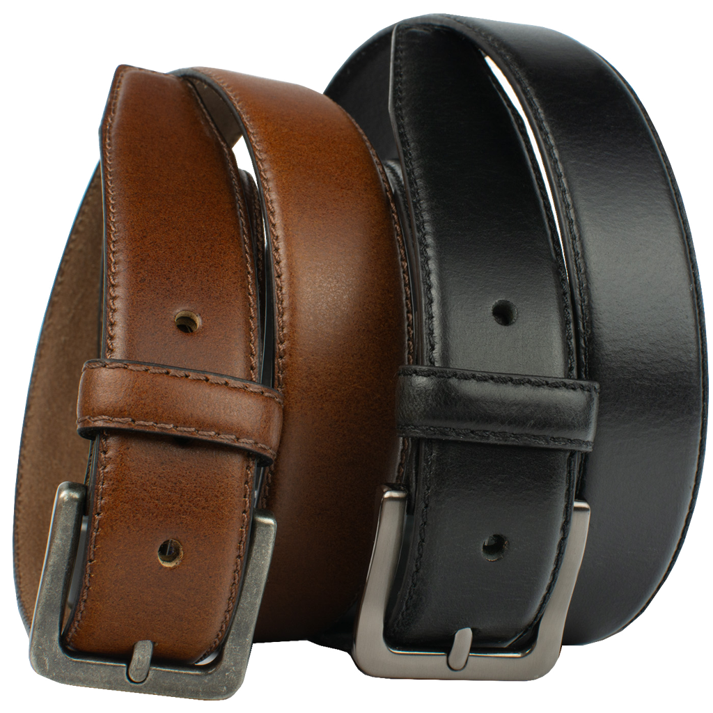 Metro Explorer Belt Set by Nickel Zero, black belt, brown belt, full grain leather, nickel free, Nickel Zero: Our Brand Name is Our Promise