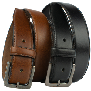 Metro Explorer Belt Set by Nickel Zero - nickelfreebelts.com, Black and Brown genuine leather belts