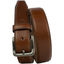 Explorer Tan Belt by Nickel Zero - nickelfreebelts.com, Brown full grain leather belt with silver buckle, made in the USA, work belt, dress belt
