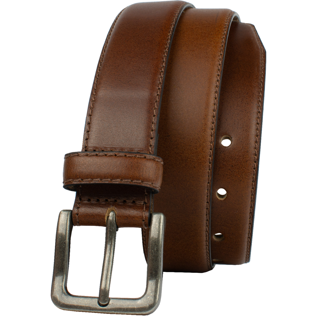 Explorer Tan Belt by Nickel Zero, brown belt, full grain leather, nickel free, Nickel Zero: Our Brand Name is Our Promise