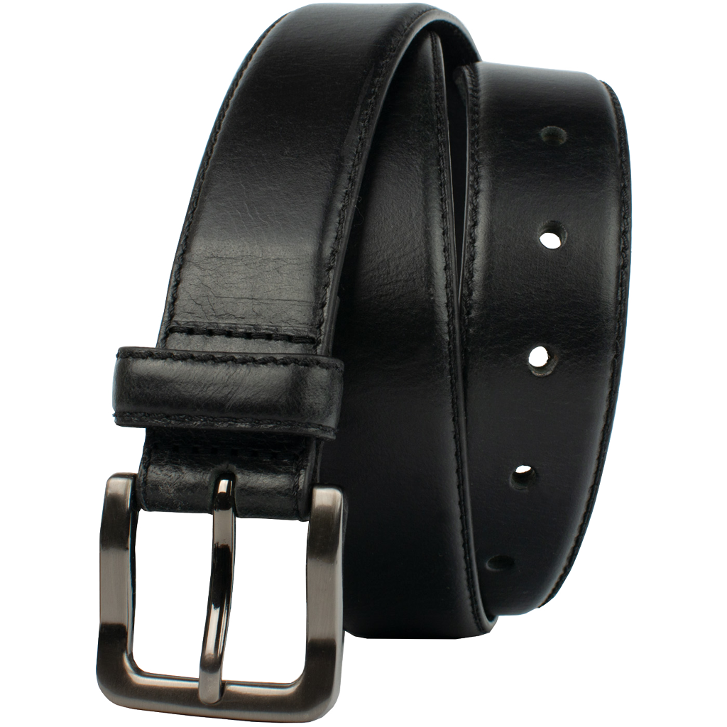 Metro Black Belt by Nickel Zero, full grain leather, nickel free, Nickel Zero: Our Brand Name is Our Promise