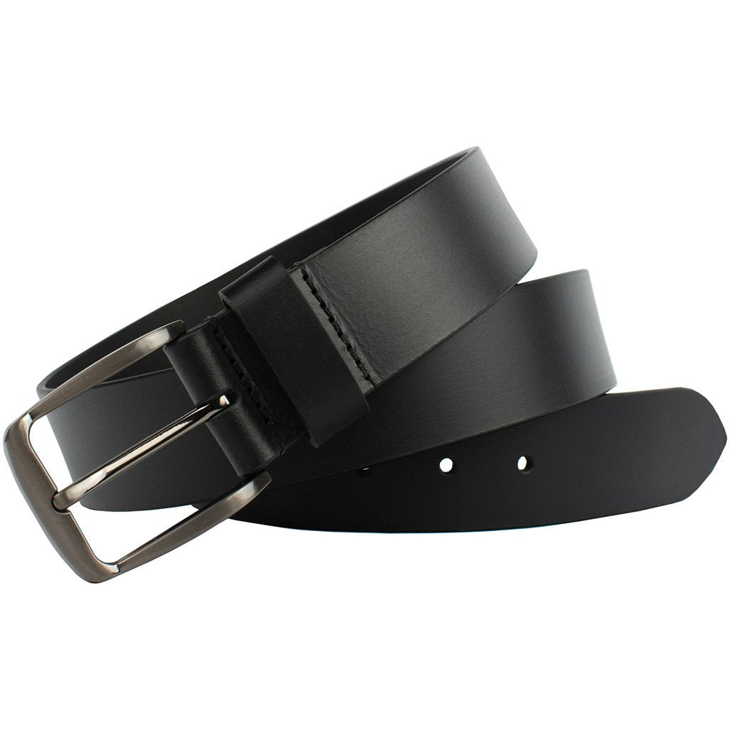 Millennial Black Belt by Nickel Zero - nickelfreebelts.com, Black genuine leather belt, sleek belt