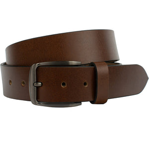 Millennial Brown Belt by Nickel Zero, nickel free, full grain leather, our brand is our promise