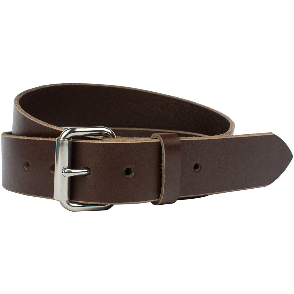 Mojave Heavy Duty Work Belt Nickel Zero, Handcrafted in the USA, Stainless steel