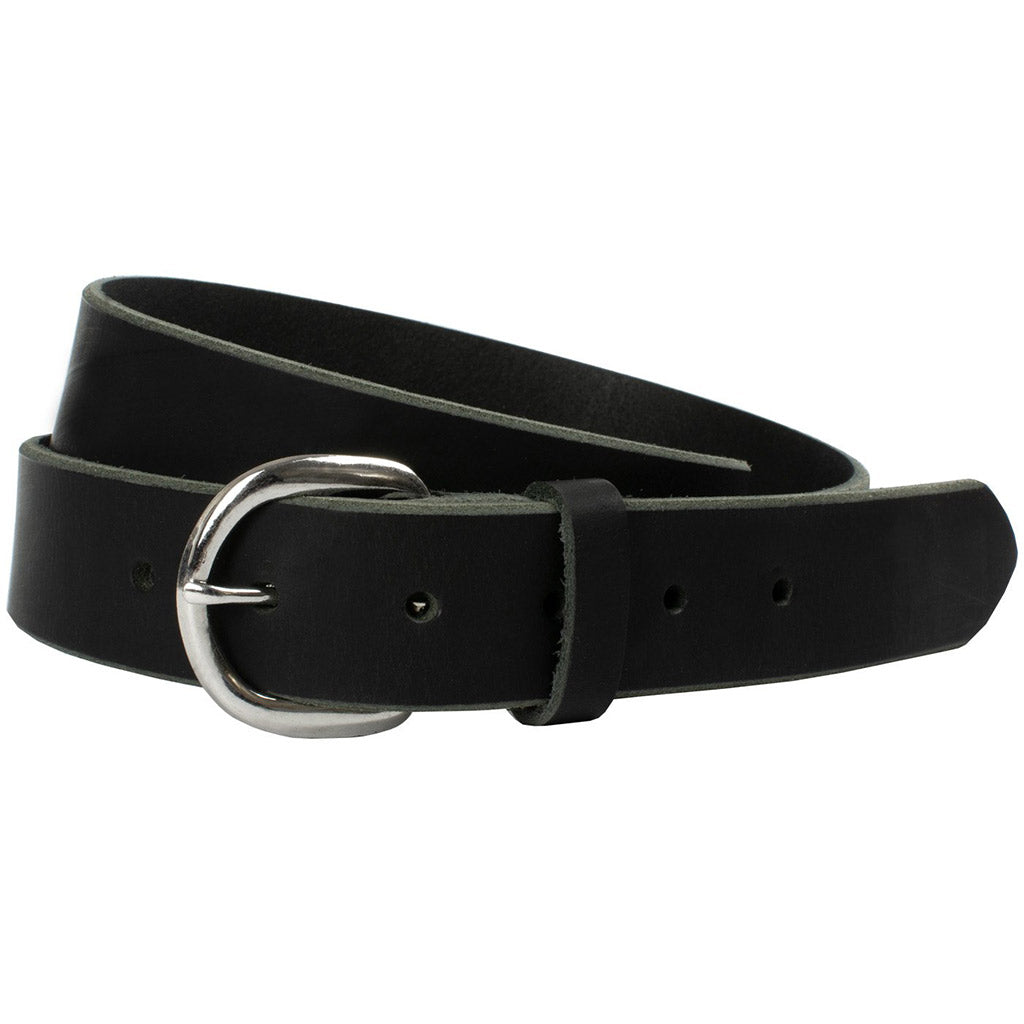 Sequoia Black Belt by Nickel Zero - nickelfreebelts.com, Black belt with a silver buckle