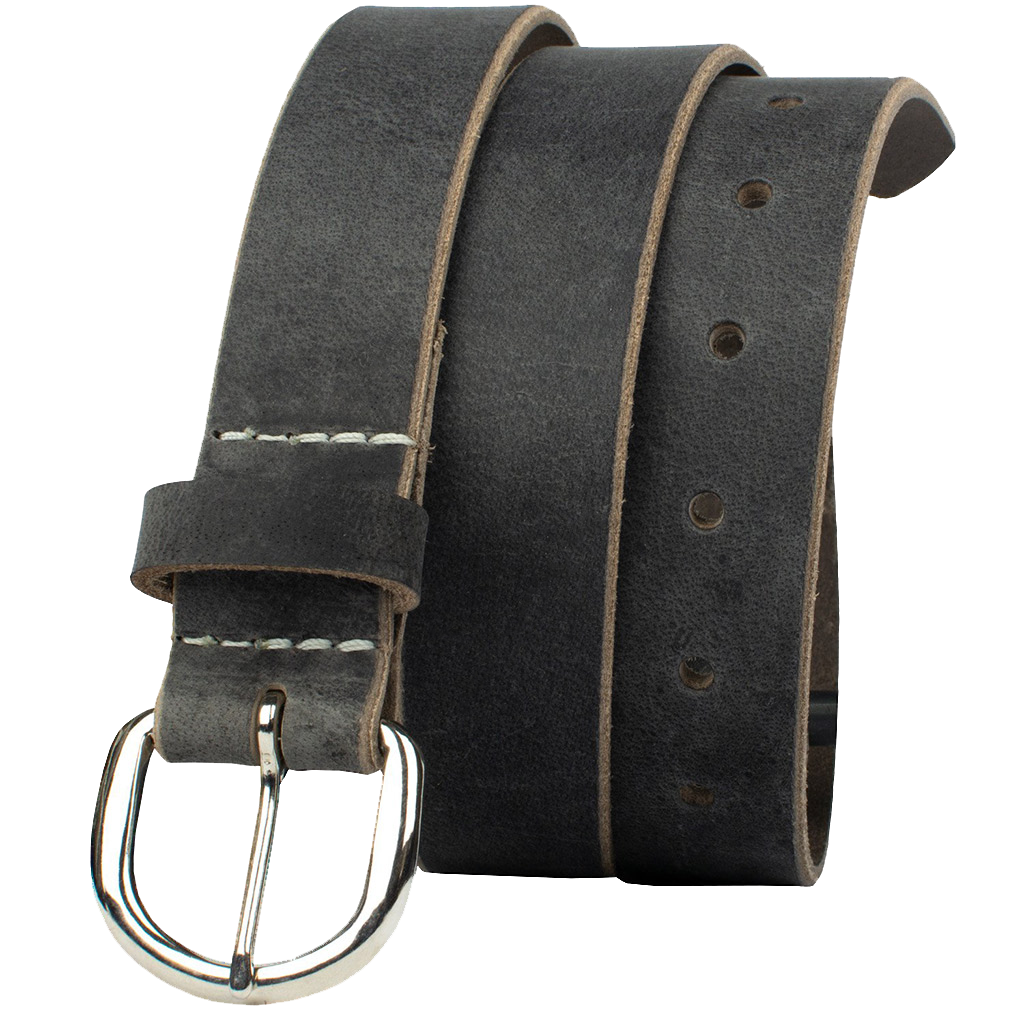 Yosemite Distressed Gray Belt by Nickel Zero - nickelfreebelts.com, casual belt, work belt