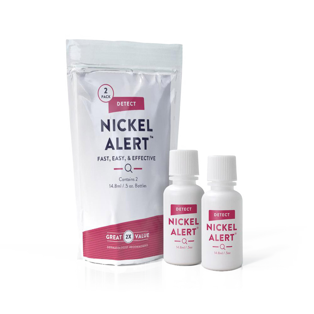 Nickel alert, spot test solution,  detect nickel, nickel rash