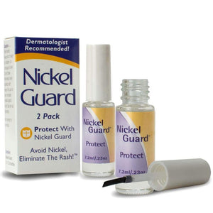 Nickel Guard provides a strong barrier, protect from nickel rash
