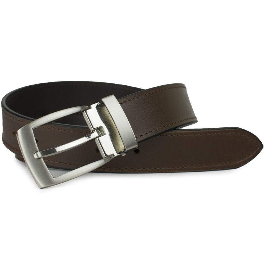 Elk Knob Brown Belt by Nickel Smart - nickelfreebelts.com, custom made in the USA