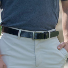 Silver Square Belt Set by Nickel Smart - nickelfreebelts.com, no nickel, nickel free, hypoallergenic