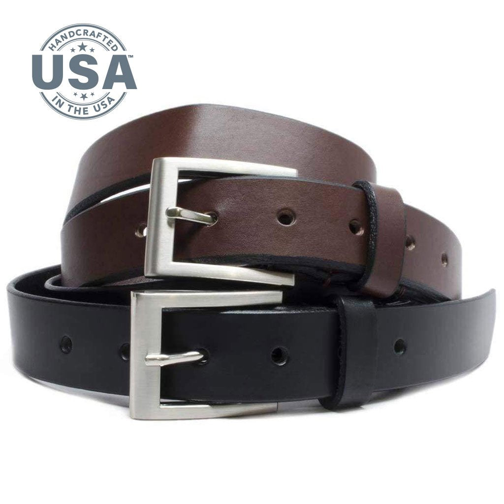 Silver Square Belt Set by Nickel Smart - nickelfreebelts.com, made in the USA