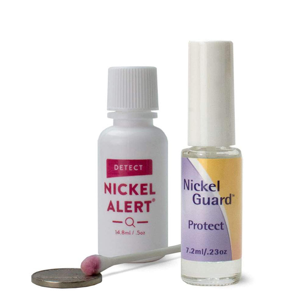 Nickel Solution, Nickel Alert test any metal, Nickel Guard provides a strong barrier, protect from nickel rash