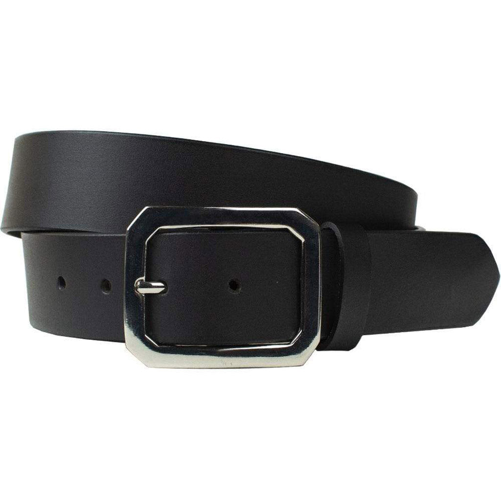 Peacekeeper Belt by Nickel Zero, Nickel Free Belt, black full grain leather cowhide strap