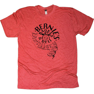 Bernie's Bagels Tri-Blend T-Shirt Apparel Red S