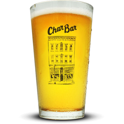 Char Bar Pint Glass Glassware