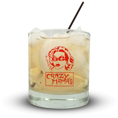 Crazy Mama's Rock Glass Glassware