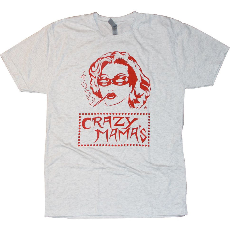 Crazy Mama's Tri-Blend T-Shirt Apparel Heather White S