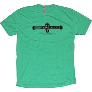 Dixie Electric Company Tri-Blend T-Shirt - Last Call! Apparel Green S