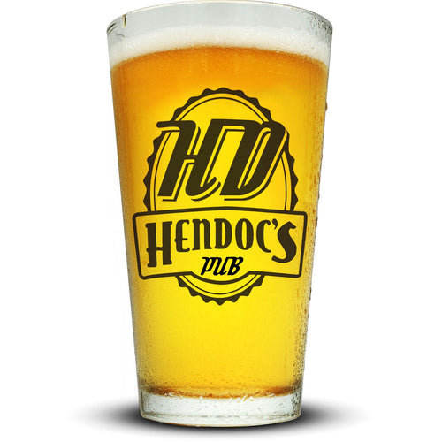 Hendoc's Pub Pint Glass Glassware