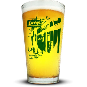 Larry's Bar Pint Glass Glassware