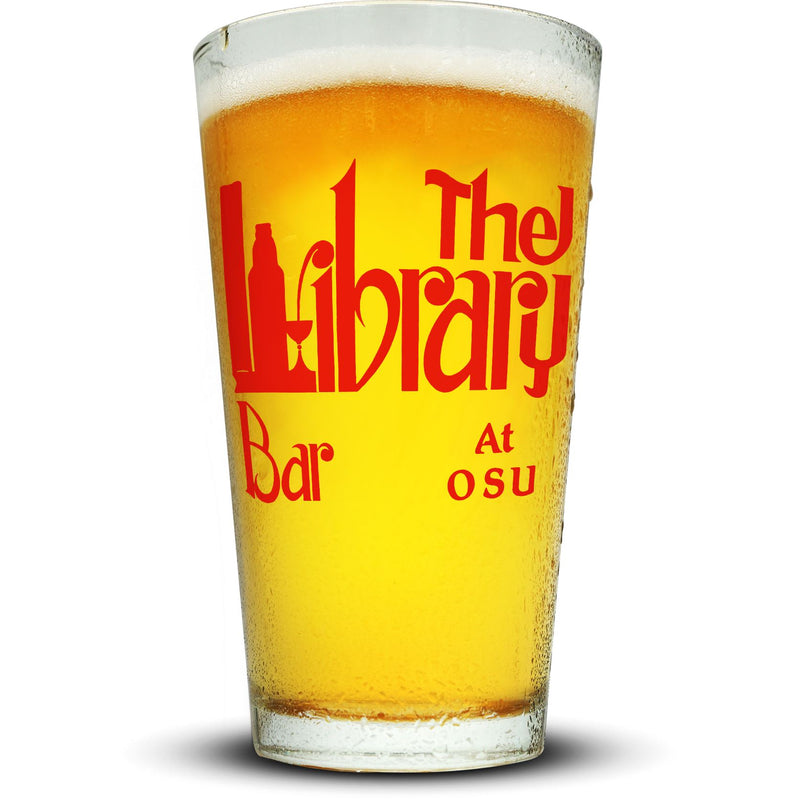 Library Pint Glass Glassware