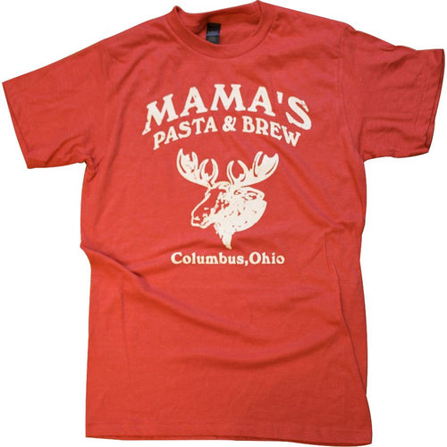 Mama's Pasta & Brew Moose T-Shirt Apparel Red S