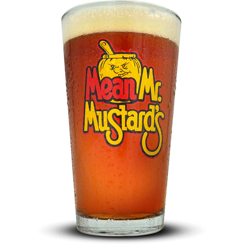Mean Mr. Mustard's Pint Glass Glassware