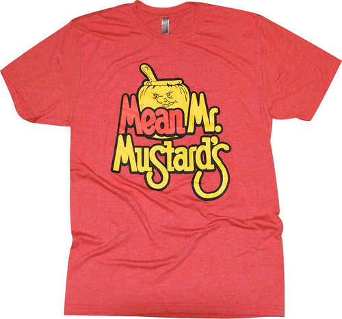 Mean Mr. Mustard's Tri-Blend T-Shirt Apparel Red S