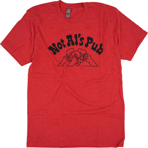 Not Al's Pub Tri-Blend T-Shirt Apparel Red S