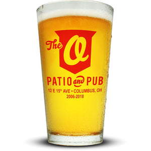 O Patio Pint Glass Glassware