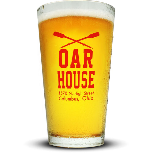 Oar House Pint Glass Glassware