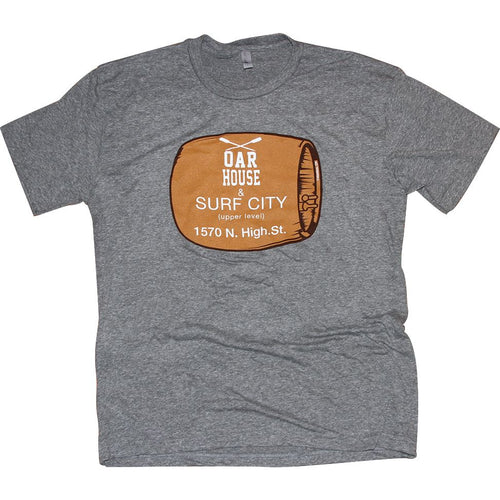 Oar House & Surf City Grey T-Shirt Apparel