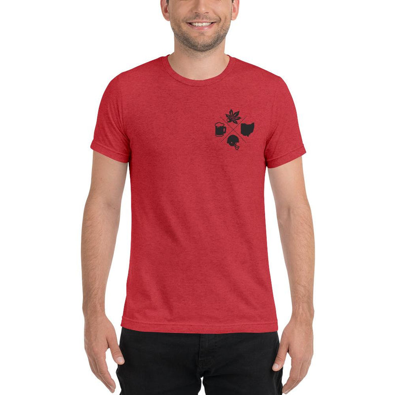 Ohio State Cross Apparel Red Triblend XS