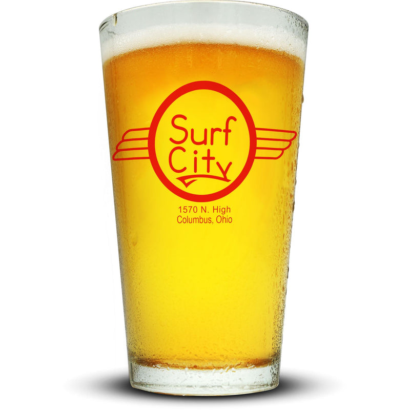 Surf City Pint Glass Glassware