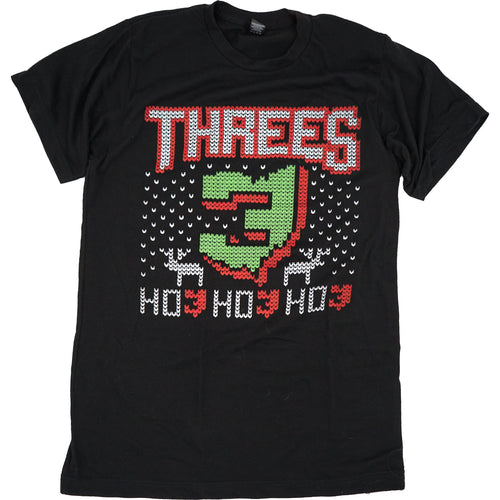Threes Christmas T-Shirt Apparel