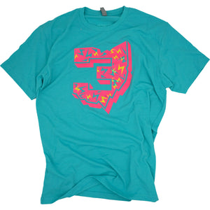Threes Neon T-Shirt Apparel