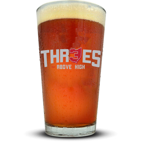 Threes Pint Glass Glassware