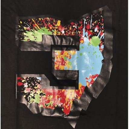 Three's Spatter Paint T-Shirt Apparel
