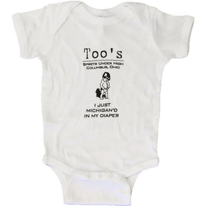 Too's I Just Michigan'd Baby Onesie Accessories