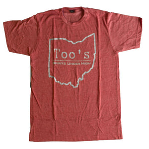 Too's Ohio Outline T-Shirt Apparel Red S