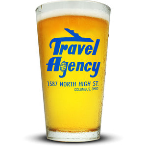 Travel Agency Pint Glass Glassware