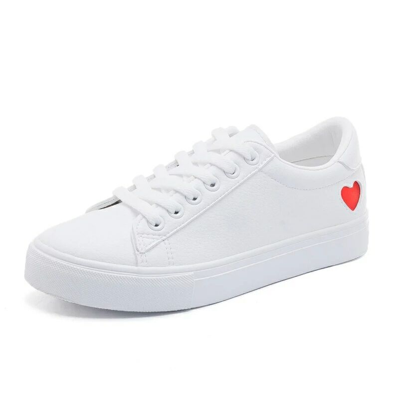 Heart Lace-up Sneakers