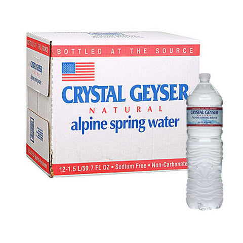 Crystal Geyser, 1.5 ltr Bottles, case of 12