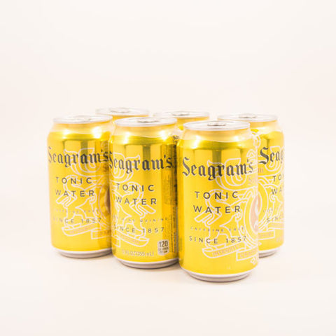 Tonic Water, Seagrams, Cans