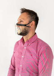 2PK FACE SHIELDS WITH INTEGRATED WIRE NOSE BRIDGE - WORKS WITH FACE ID.