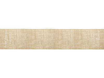 Jute table runner Merry Christmas, white, 50x250cm